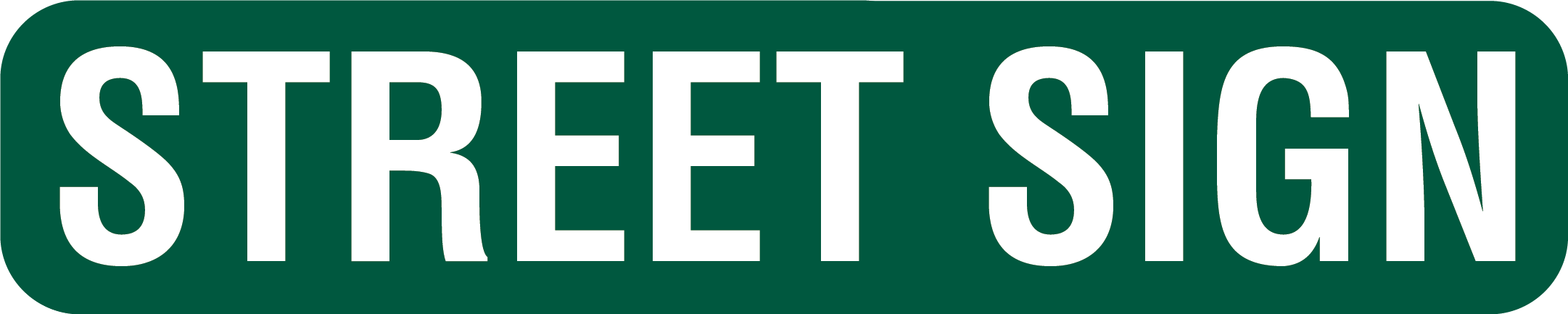 6in Street Sign