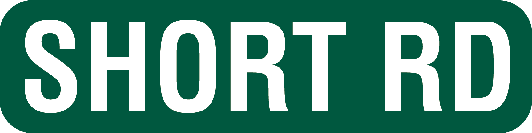 6x24 Street Sign for Short Road Names