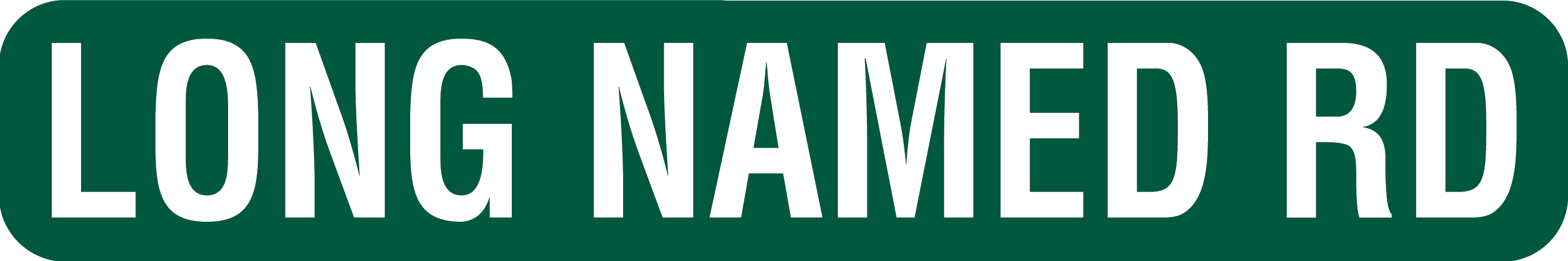 6x36 Street Sign for Long Road Names